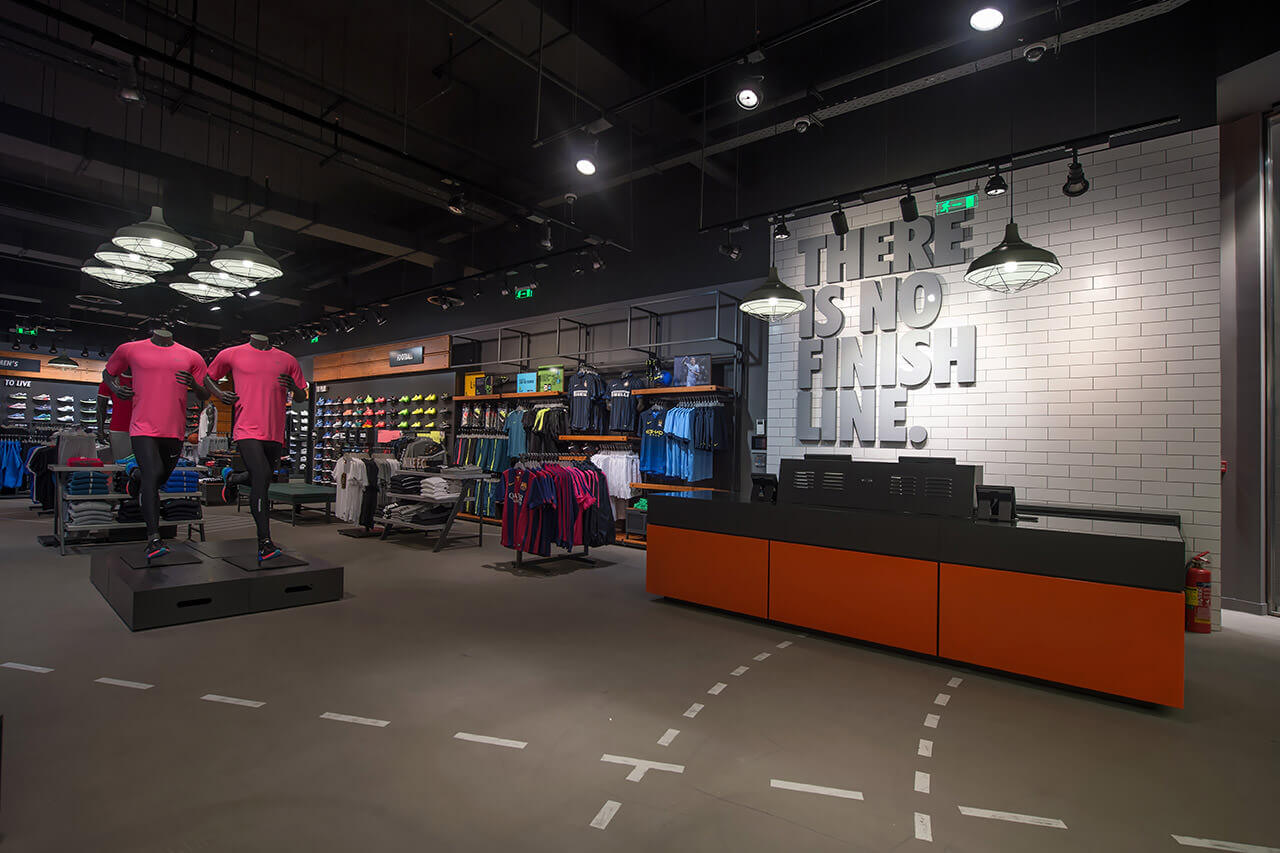 L4A › Nike store at the Mall Athens f3d0e01453e1